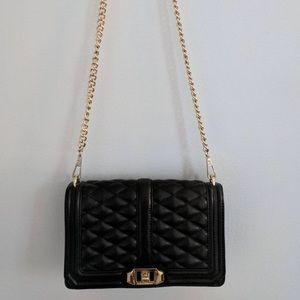 EUC Rebecca Minkoff quilted Love crossbody